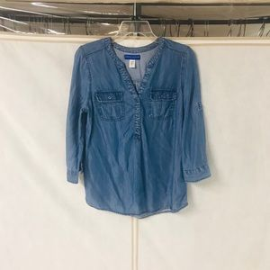Chambray Top Size S